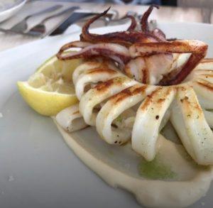 Calamar en restaurante Valencia