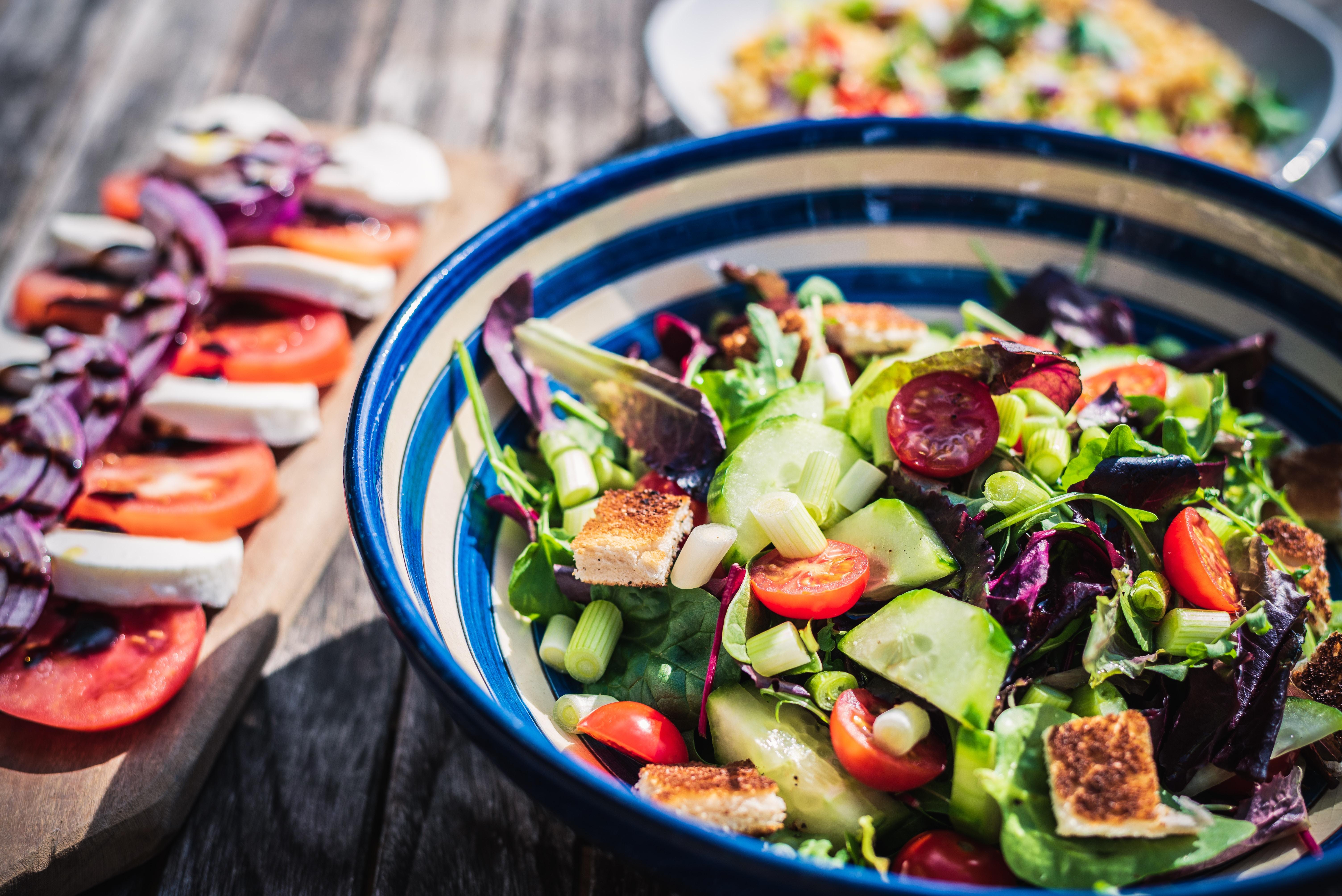Platos ligeros de ensalada