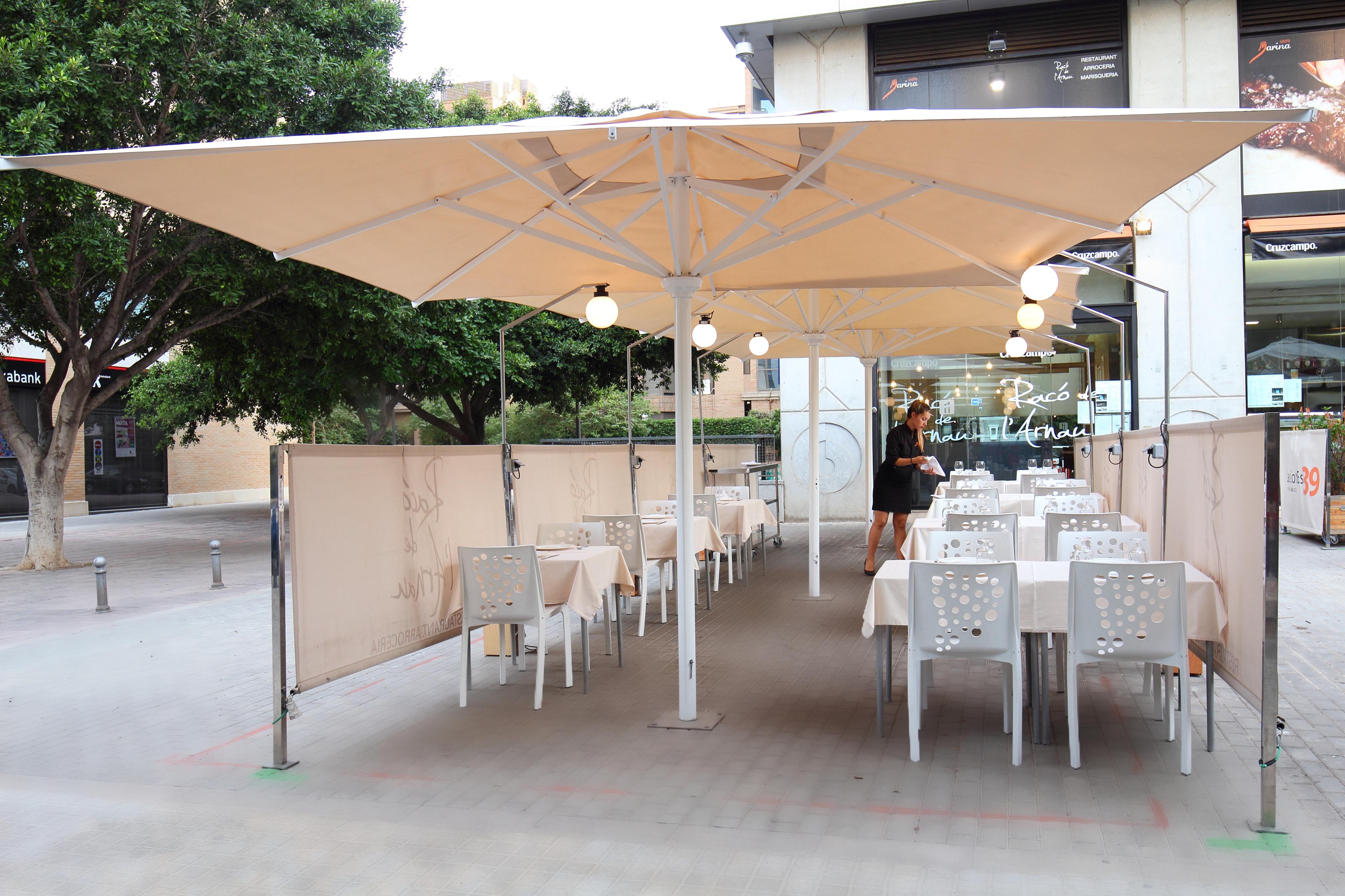 Una de las terrazas en Valencia
